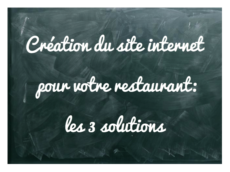 creation site internet restaurant